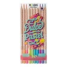 Lápices De Colores Pasteles Mooving x10 #1