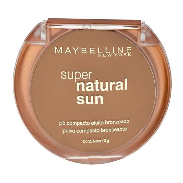 Polvo compacto Maybelline Super Natural Sun 21 Golden Sun X 12 Gr
