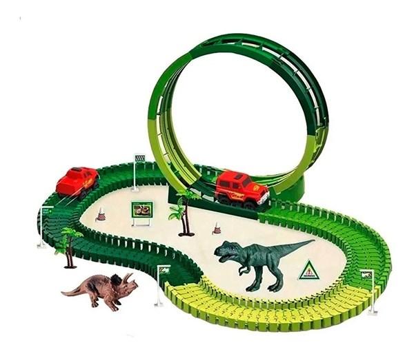 Pista Dino Track Con Autito y Accesorios