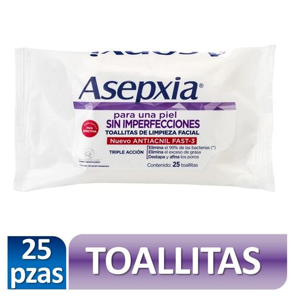 Asepxia Toallitas De Limpieza Facial X 25 Unidades