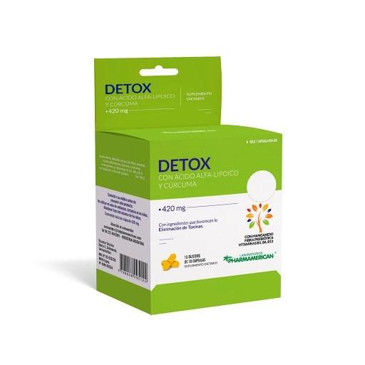 Suplemento Detox Ác. Alfa-Lipoico y Cúrcuma Blíster 10 Cápsulas
