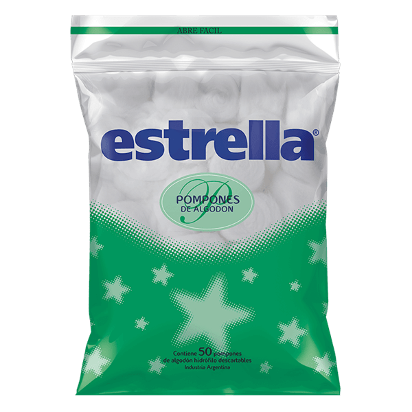 ESTRELLA - Pompones de Algodón (50 u.)