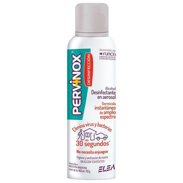 Pervinox Desinfección Alcohol Desinfectante En Aerosol X 145 Ml