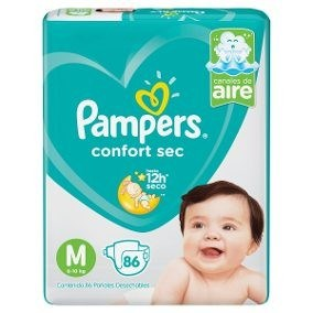 Pampers Confort Sec M x 86 unidades.