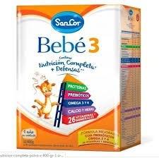 Leche Sancor Bebe 3 Nutricion Completa Polvo x800gr