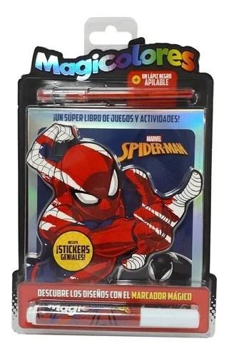 Libro De Actividades Magic Color Spiderman