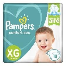 Pampers Confort Sec Mega-pack XG x18