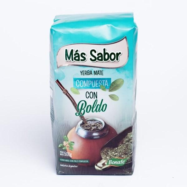 YERBA MAS SABOR COMPUESTA C/BOLDO x 500 GRS