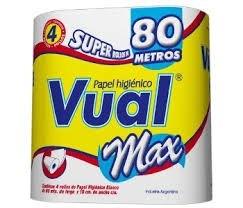 PAPEL HIGIENICO .VUAL MAX x 4 X 80 MS
