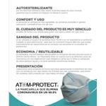 Barbijo Conicet Reutilizable Atom Protect Con Sanitizante #4