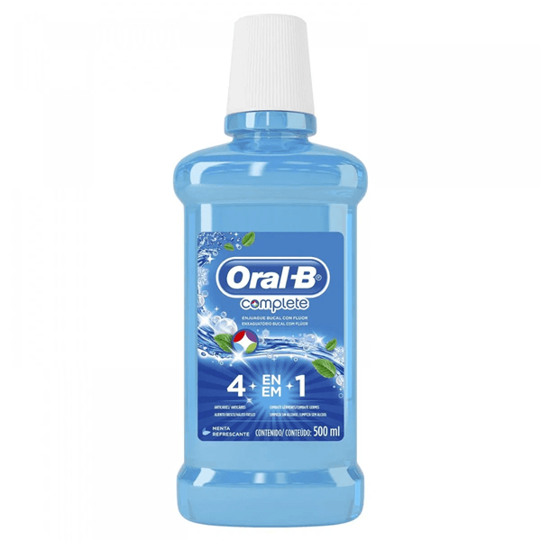 Oral B Enjuague Bucal Complete 4en1 Menta Refrescante 500 ml #1
