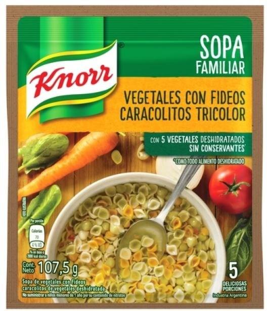 SOPA CASERA KNORR VEG C/CARAC x 86 GRS