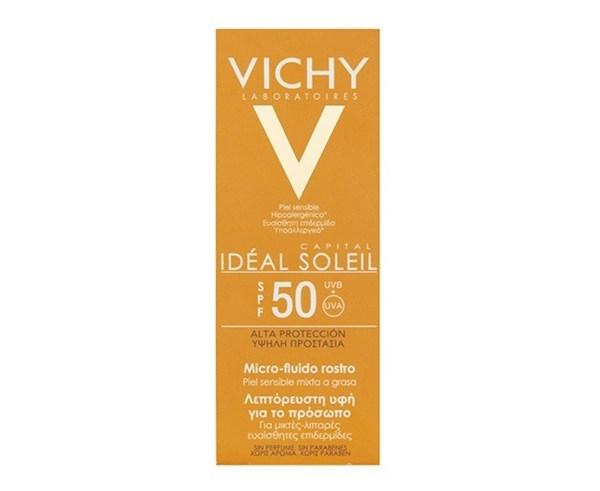 VICHY Ideal Soleil Fluido FPS 50 Pomo 40 ml
