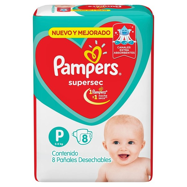 Pañales Pampers Supersec P X 8 Unidades alt