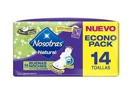 Toallitas Nosotras Nocturnas x14 Unidades