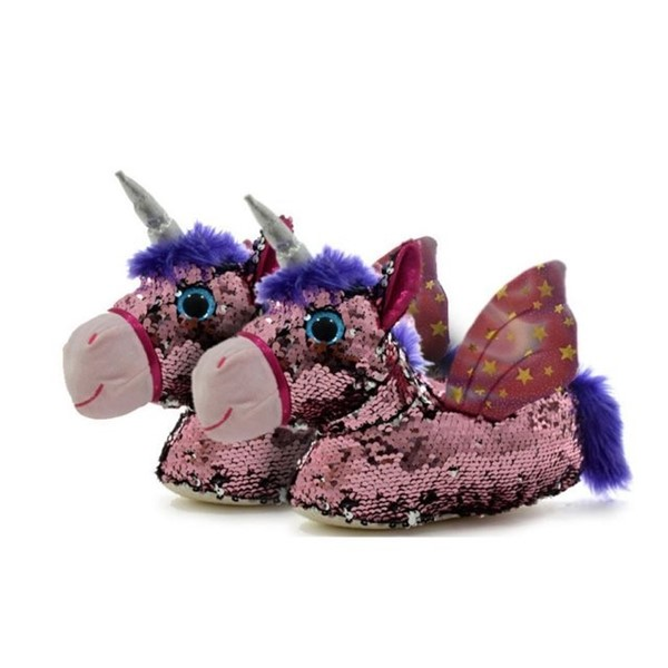 Pantuflas Phi Phi Toys Unicornio y Lentejuelas