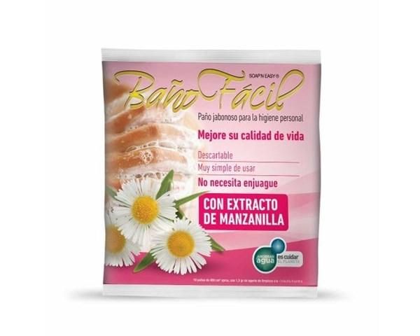 Baño Fácil Paño Jabonoso x 10 Uni Manzanilla