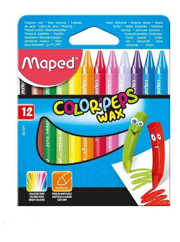 Crayones De Cera Maped x12 Unidades