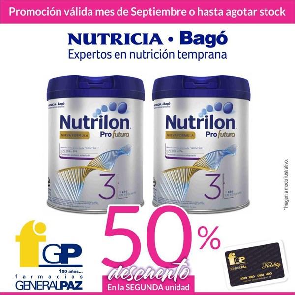 Promo Leche Nutrilon 3 X 800gr Llevando Dos Unidades 50% Descuento En La Segunda Unidad