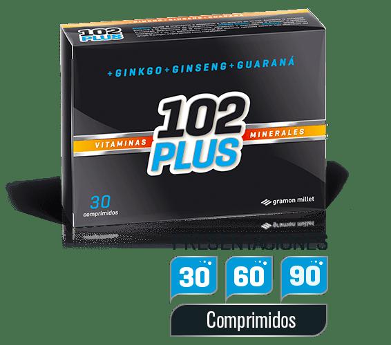 102 Plus Vitaminas Minerales 30 Comprimidos
