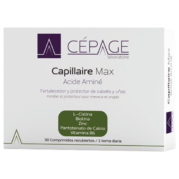 Cepage Capillaire Max Acide Amine X 30 Comprimidos.