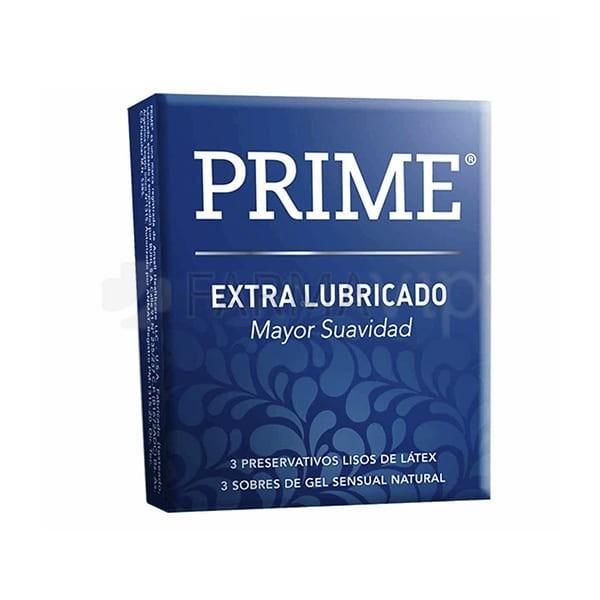 Preservativos Prime Extra Lubricado X3