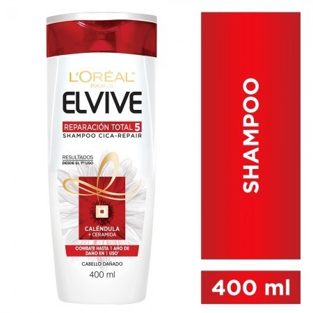 Shampoo Reparación Total 5 Elvive Loreal París X 400 Ml