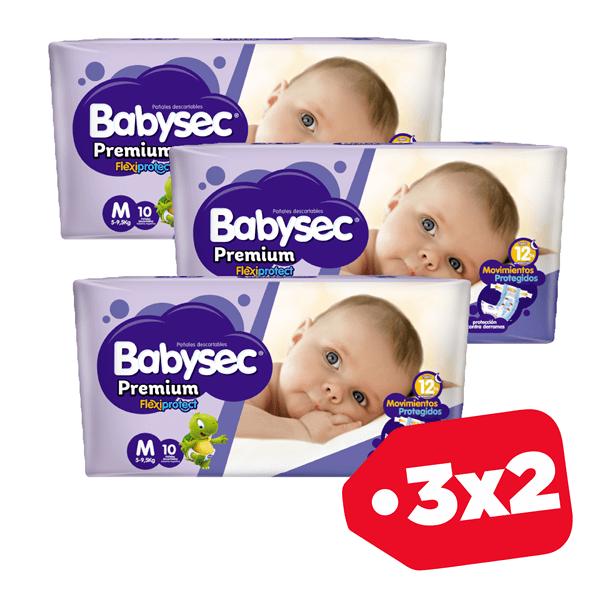 Promo 3x2 Babysec Premium M x10