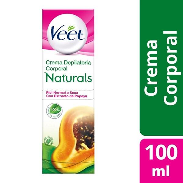 Crema Depilatoria Veet Naturals Pure Papaya X 100 Ml