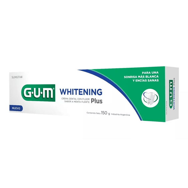Gum Whitening Plus Crema Dental x150 g. Menta Fuerte