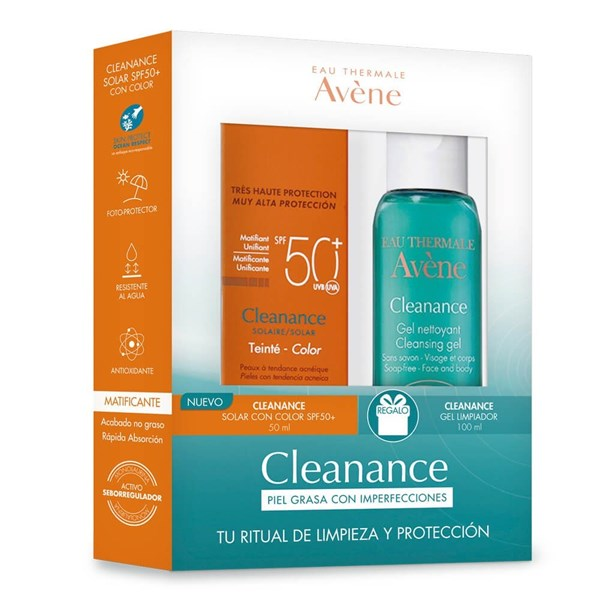 Avene Pack Solar FPS 50 50ml + Cleanance Gel Mini 20ml