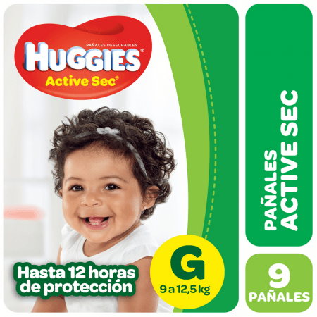 Huggies Active Sec Regular G X9