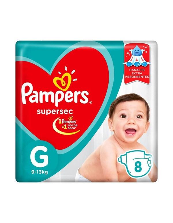 PL PAMPERS SUPERSEC GDE x 8 U