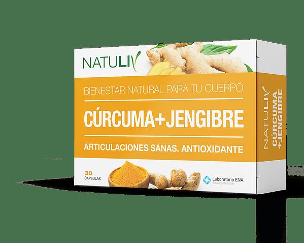 Natuliv Curcuma + Jengibre Natuliv X 60 Cap