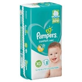 Pampers Confort Sec XG x8