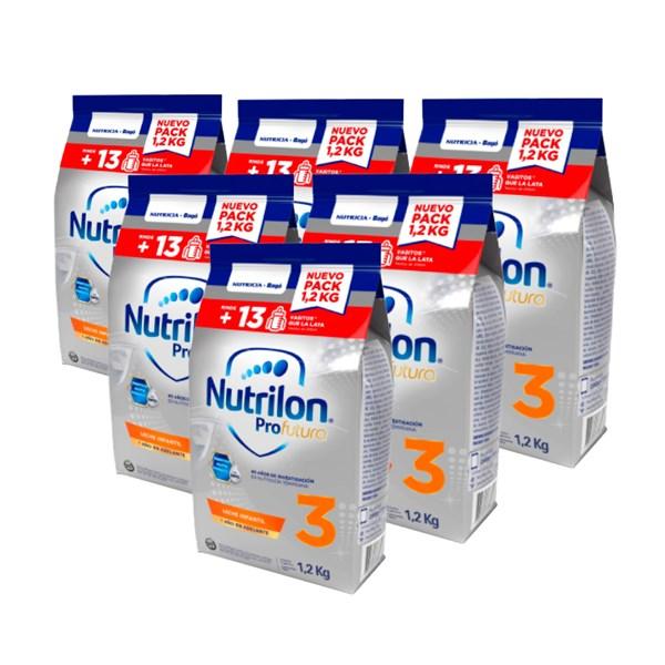Pack X 6 Leche De Fórmula En Polvo Nutricia Bagó Nutrilon Pouch Profutura 3 x 1,2 Kg