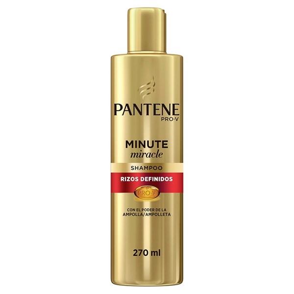Pantene Pro-v Shampoo Minute Miracle Rizos Definidos x 270 ml.