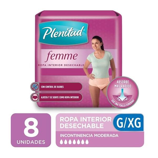 Plenitud Ropa Int Desechable Mujer G/xg X 8