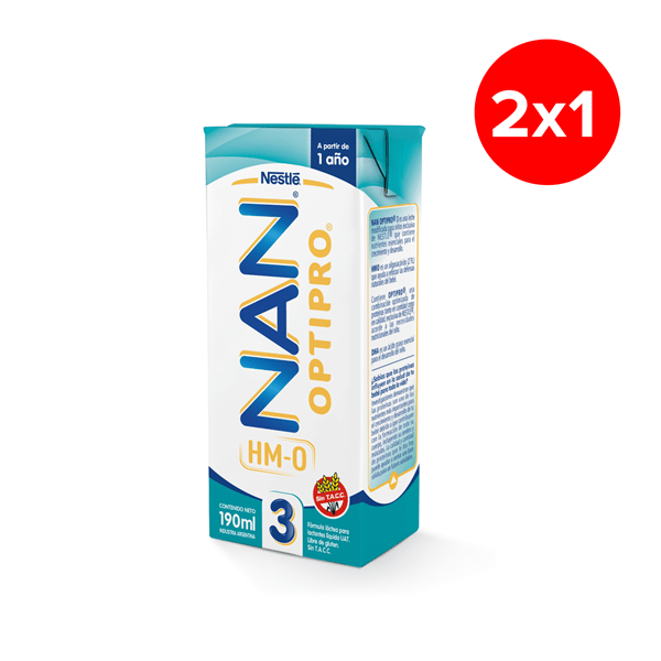 Nestle Nan Optipro 3 (a Partir De 1 Año)  X190 Ml PROMO 2X1