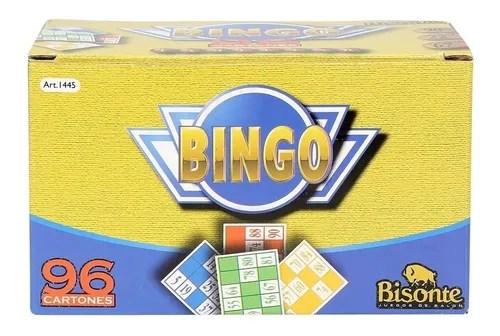 Bingo 96 Cartones Juego Bisonte
