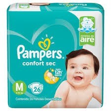 Pampers Confort Sec Mega-pack M x26