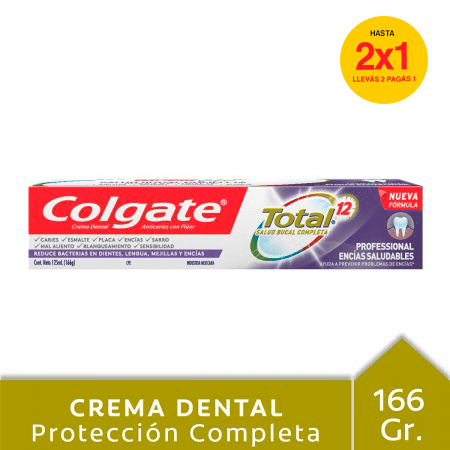 Crema Dental Colgate Total 12 Professional Encías Salulables