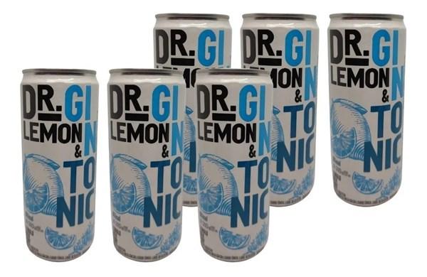 DR LEMON LATA GIN TONIC 99 KCAL X 6 x 310CC