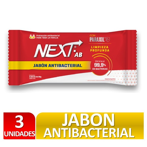 Jabón Antibacterial Next x 3U.