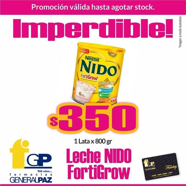 PROMO LECHE Nestle Nido Fortigrow 1 lata x 800 Grs