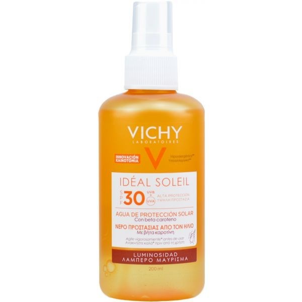 Vichy Ideal Soleil Agua Solar Protectora Spf 30 Luminosidad  X 200ml