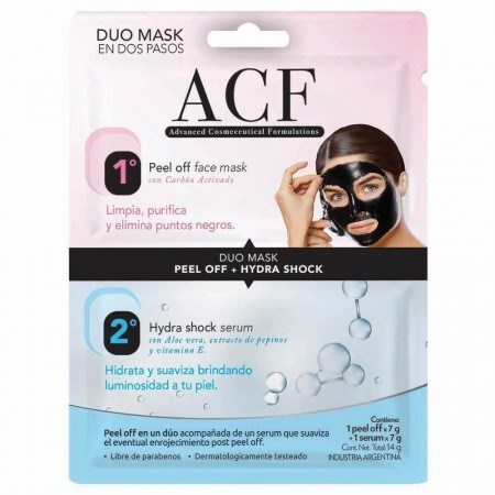 Máscara ACF Facial Peel Off 7gr + Serum Hidra Shock 7ml