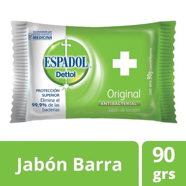 Jabon Espadol Dettol Antibacterial Original 90 Gr