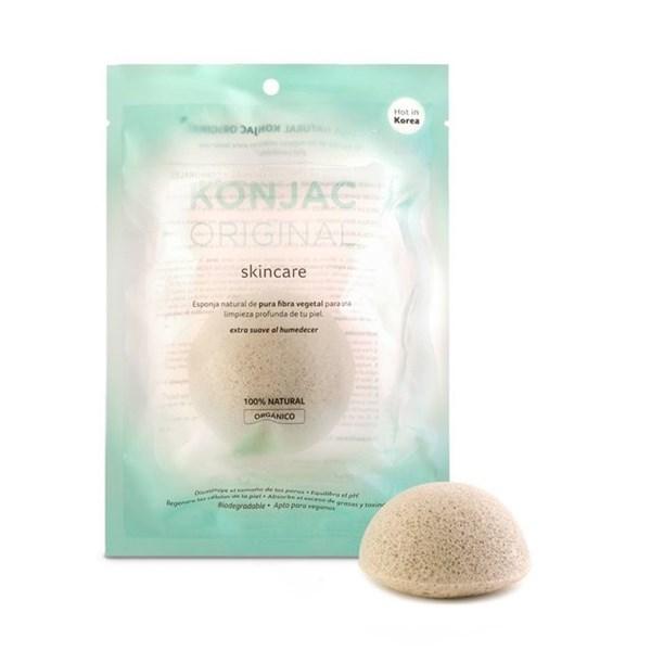 Konjac Esponja Facial Con Fina Arcilla Verde Francesa Natural