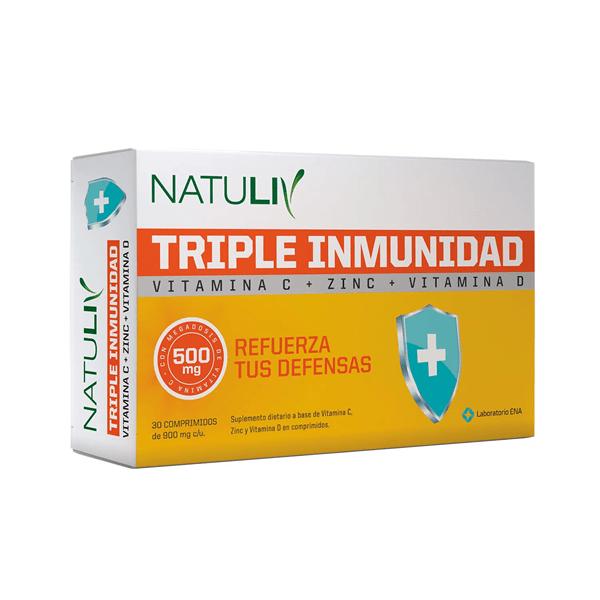 ENA - Natuliv Triple Inmunidad - 30 comp.